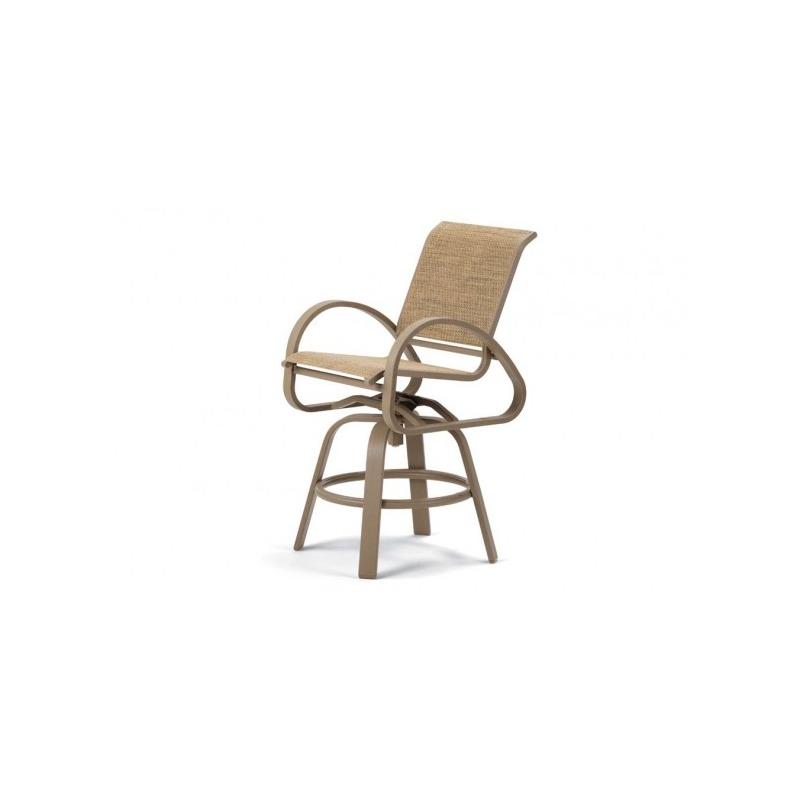 Aruba Ii Sling, Counter Height Swivel Cafe Chair