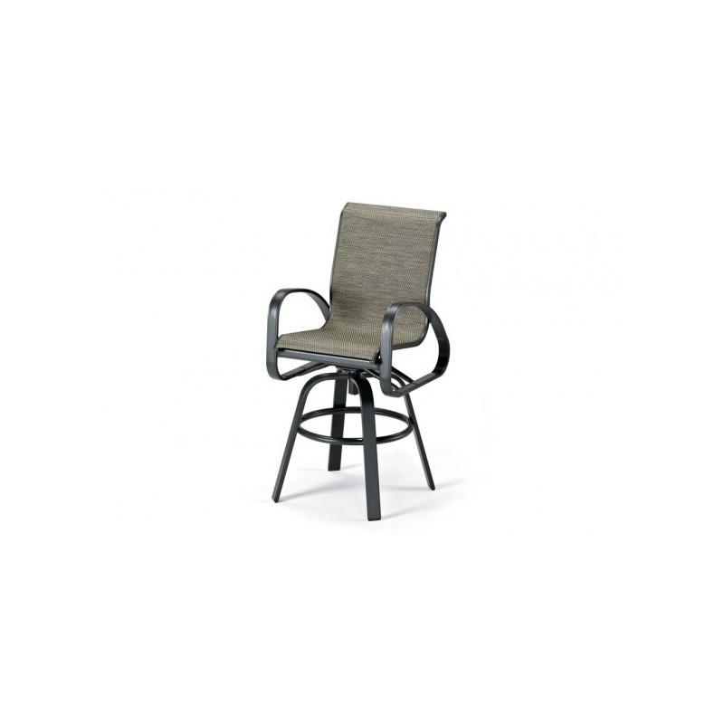 Primera Sling, Bar Height Swivel Arm Chair