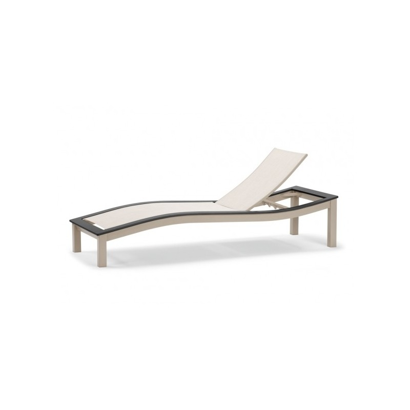 Bazza Mgp Aluminum Sling, Contour Armless Chaise W/mgp ... on Living Accents Sling Folding Chaise id=58571