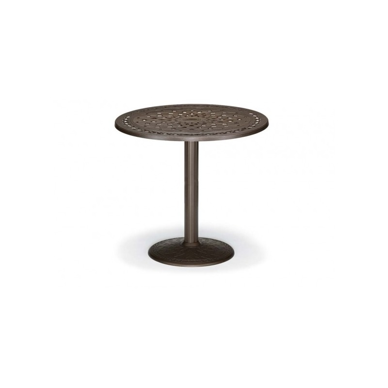 48″ Round Bar Height Table W/ Hole