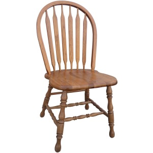 Country Arrow Back  Side Chair - Harvest