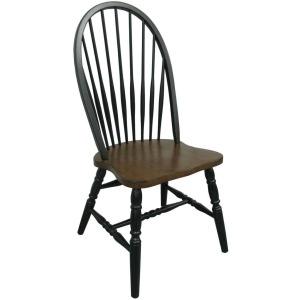 Smartbuy Windsor Chair - Black & Cherry