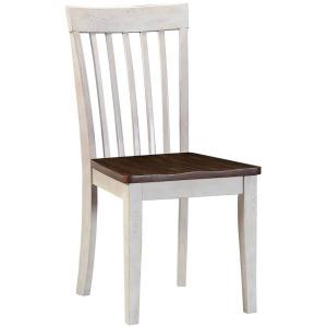 Smartbuy Slat Back Side Chair - Walnut & Antique White