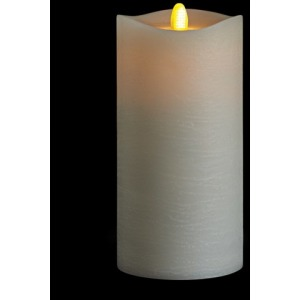 3.5 X 7 Matrix Pillar Candle, Ivory, Frosted Finish, Unscented, Timer, Remote Ready