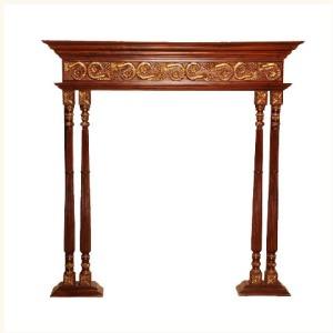 Claudius Pillar Motif Mantelpiece