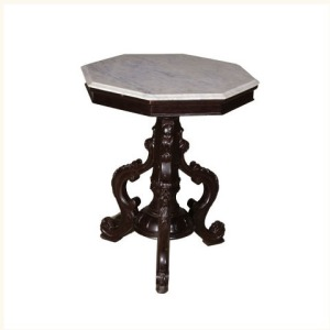 Barker Marble Top Octagonal Table