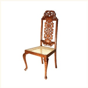 Barker Carved Back Anglo Indian Side Chair