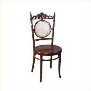 Anthony Carved Round Side Chair