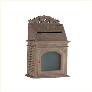 Binny Wood and Cane Letter Box