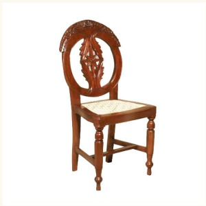 Bardez Carved Mahogany Side Chair