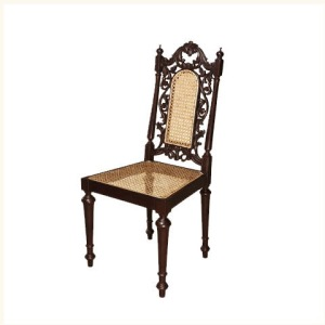 Anthony Carved Cane Back Side Chair