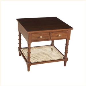 Assam Caned Bedside Table