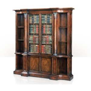 A faux book and laurel burl bookcase  Cabinetry