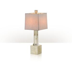 A buffalo horn inlaid table lamp