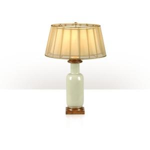A ceramic table lamp