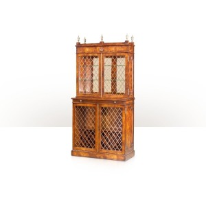 A flame mahogany cocktail cabinet