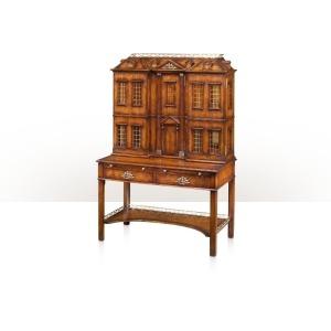 A mahogany cocktail cabinet