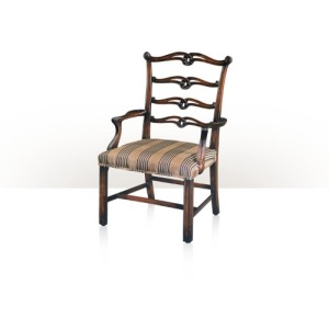 A hand carved Chippendale children's open armchair Seating