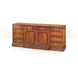 Althorp Living History A mahogany breakfront sideboard or side cabinet