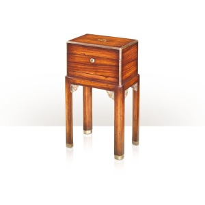Althorp Living History A rosewood and parcel gilt box on stand