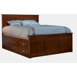 Urban Queen Captian's Panel Bed