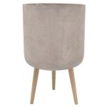 Flower Pot w/Wood Stand