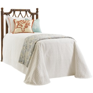 Island Breeze Rattan Headboard Twin Twin