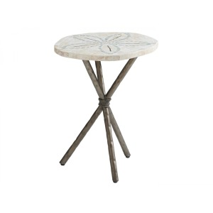 Ocean Breeze Sand Dollar End Table