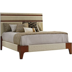 Mandarin Upholstered Panel Bed 6/6 King