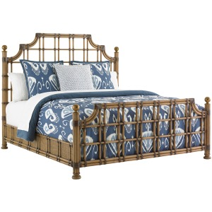 St. Kitts Rattan Bed 6/6 King