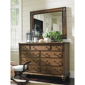 Costa Sera Triple Dresser & Sunrise Landscape Mirror