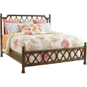 Island Breeze Rattan Bed King King