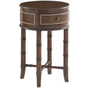 Bandera Leather Accent Table