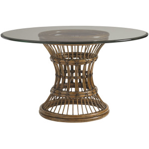 Latitude Dining Table With 54 Inch Glass Top