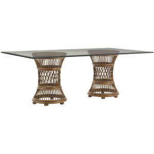 Aruba Dining Table With 84 X 48 Inch Glass Top