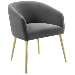 Arya Performance Velvet Grey Dining Chair