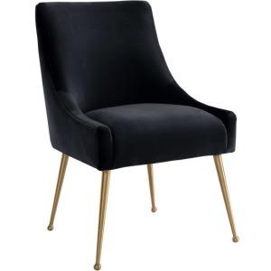 Beatrix Black Velvet Side Chair
