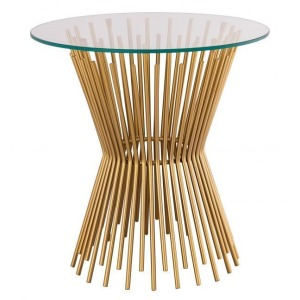 Grace Glass Side Table by Inspire Me! Home Decor