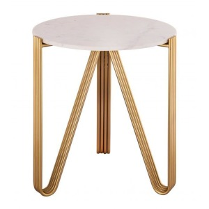 Aya Marble Side Table by Inspire Me! Home Decor
