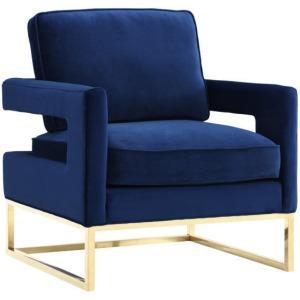 Avery Navy Velvet Chair