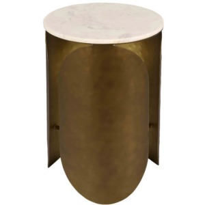 Indio White Marble Side Table