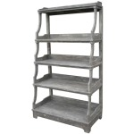 Open Stacked Display Shelf -Grey