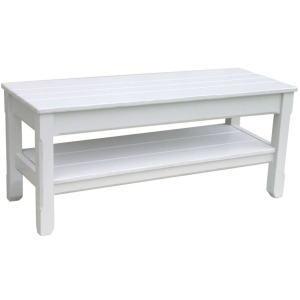 Cottage Plank Twin Bench -White