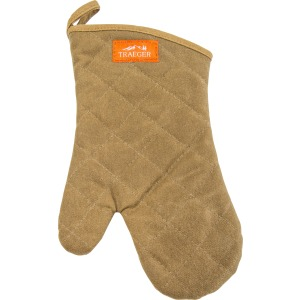BBQ Mitt- Brown Canvas And Leather
