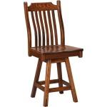"Easton Pike Premium 24"" Swivel Pub Chair"
