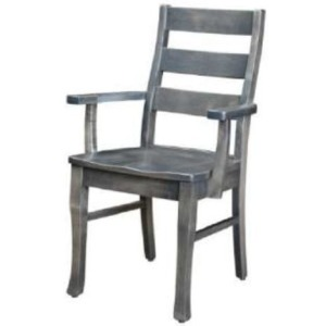 Small Space Living Ladder Back Arm Chair
