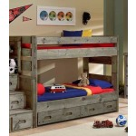 Bunkhouse Wrangler Twin/Twin Bunk Bed - Driftwood