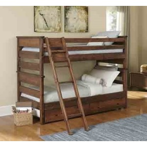 Laguna Twin/Twin Bunk Bed - American Chestnut