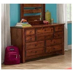 Laguna 9 Drawer Dresser - American Chestnut