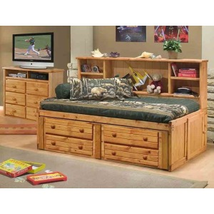 Cheyenne Twin Bed with Underdresser - Cinnamon